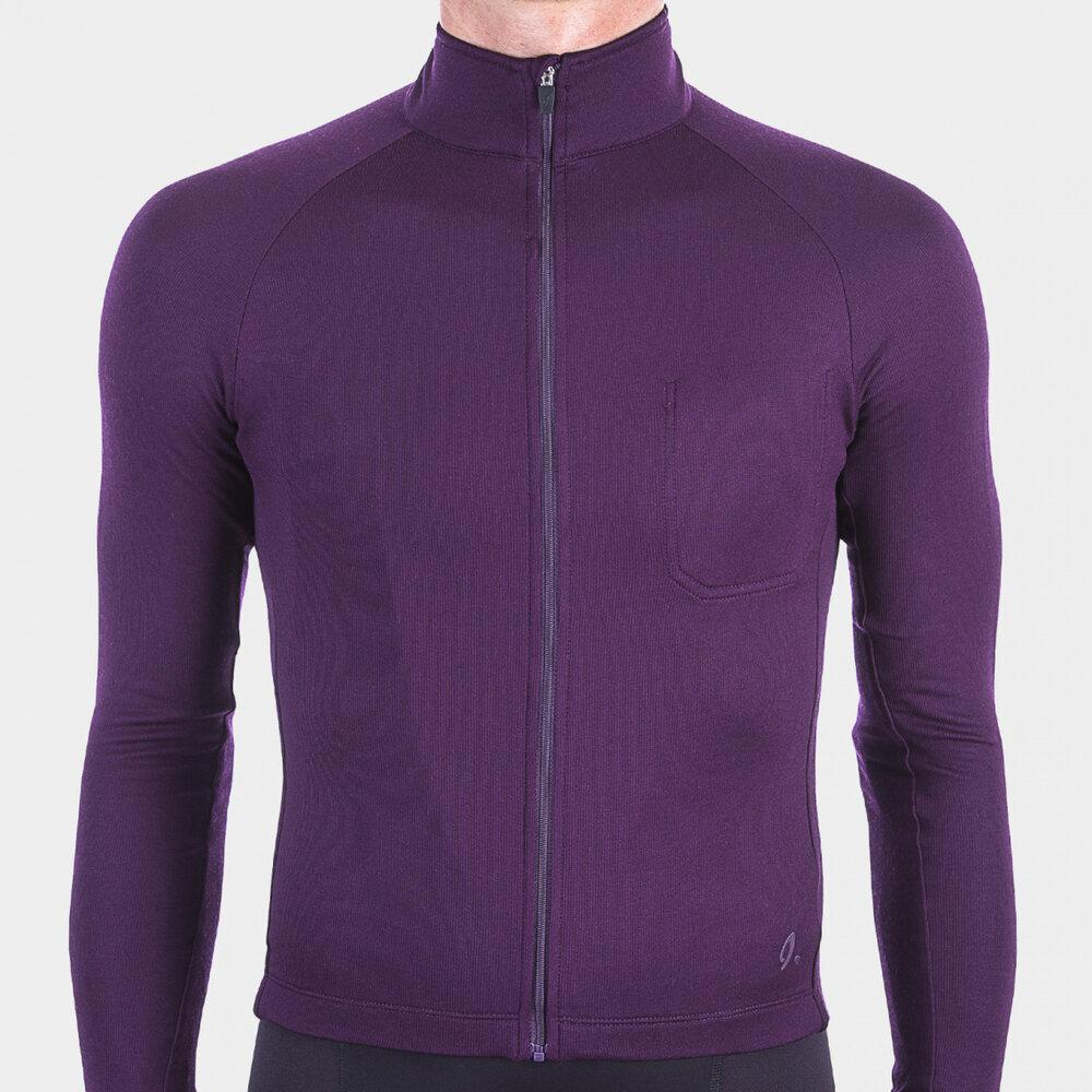 Long Sleeve Cycling Jersey - Potent Purple Cycling Jersey Isadore XS
