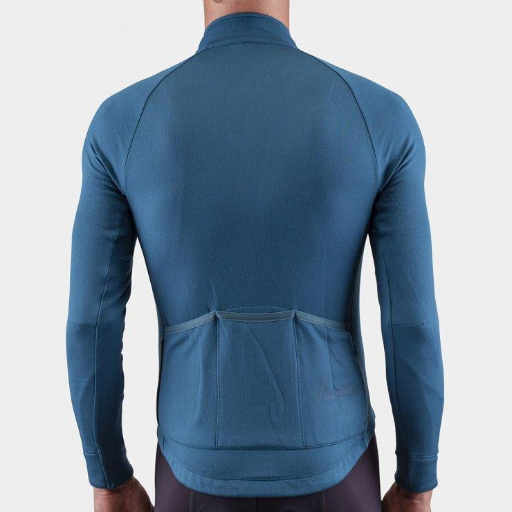 Long Sleeve Merino Cycling Jersey - Blue Coral Cycling Jersey Isadore