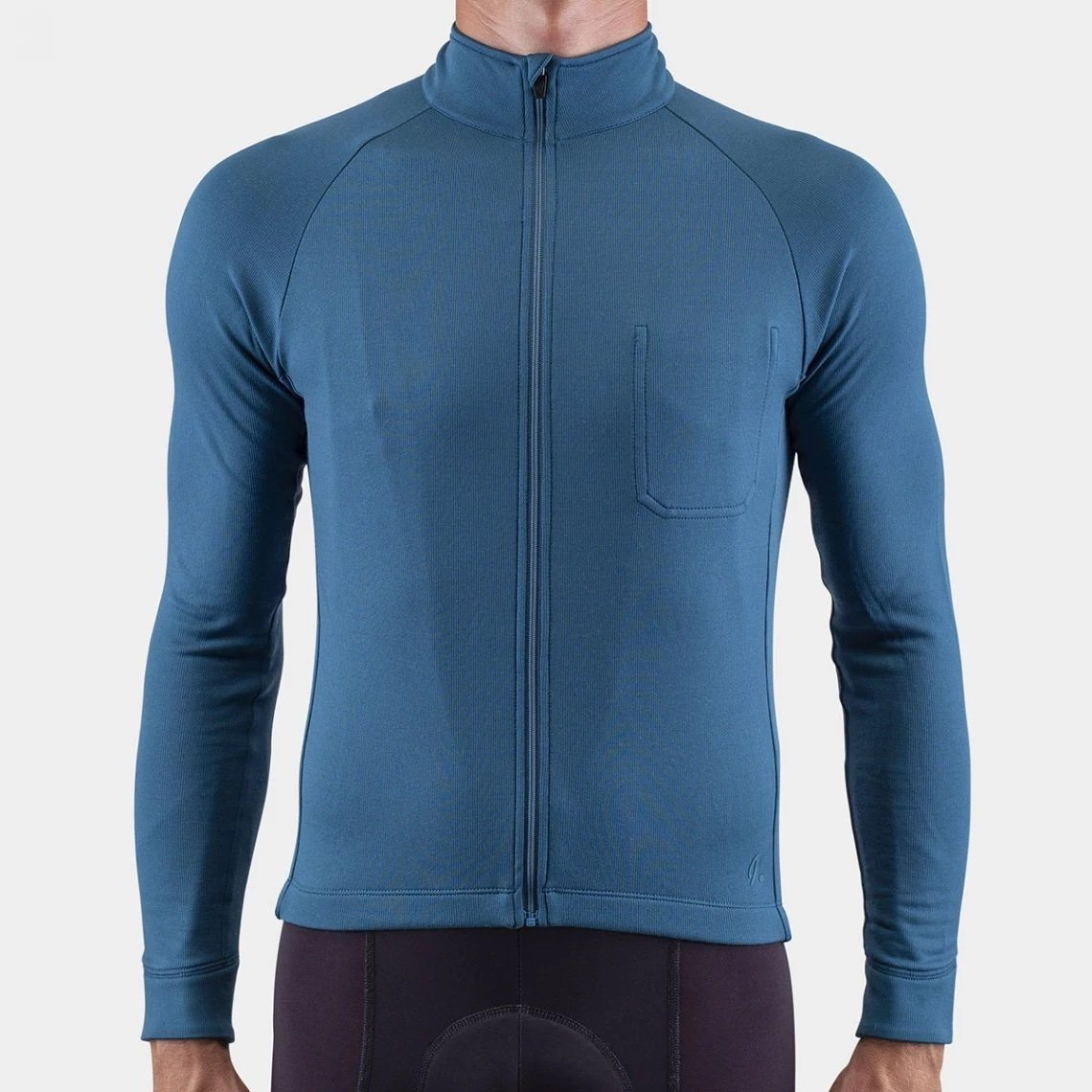 Long Sleeve Merino Cycling Jersey - Blue Coral Cycling Jersey Isadore XS