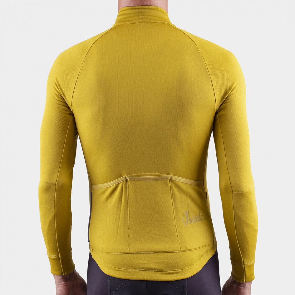 Long Sleeve Merino Cycling Jersey - Olive Oil Cycling Jersey Isadore