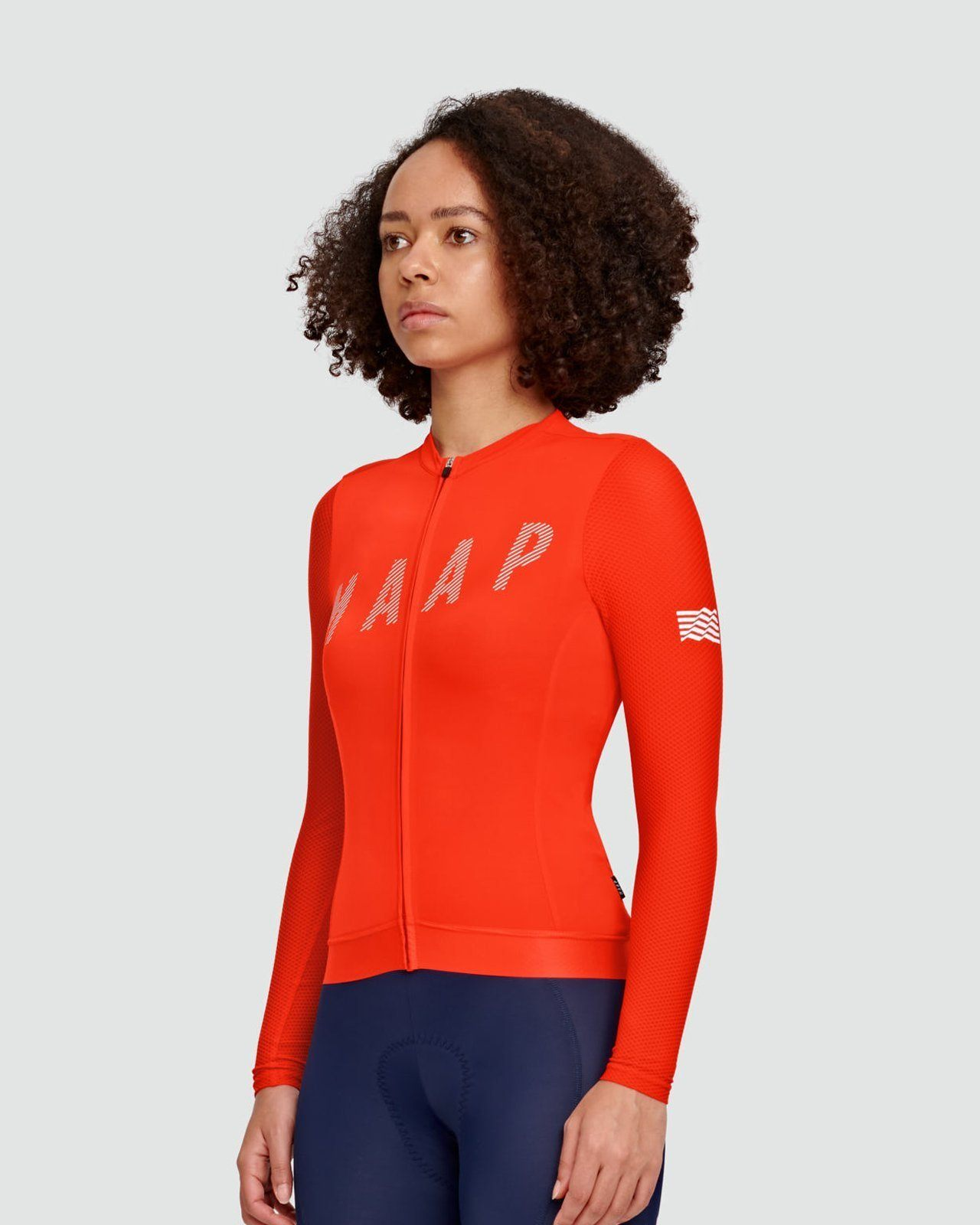 MAAP Women's Echo Pro Base LS Jersey - Chili Cycling Jersey MAAP