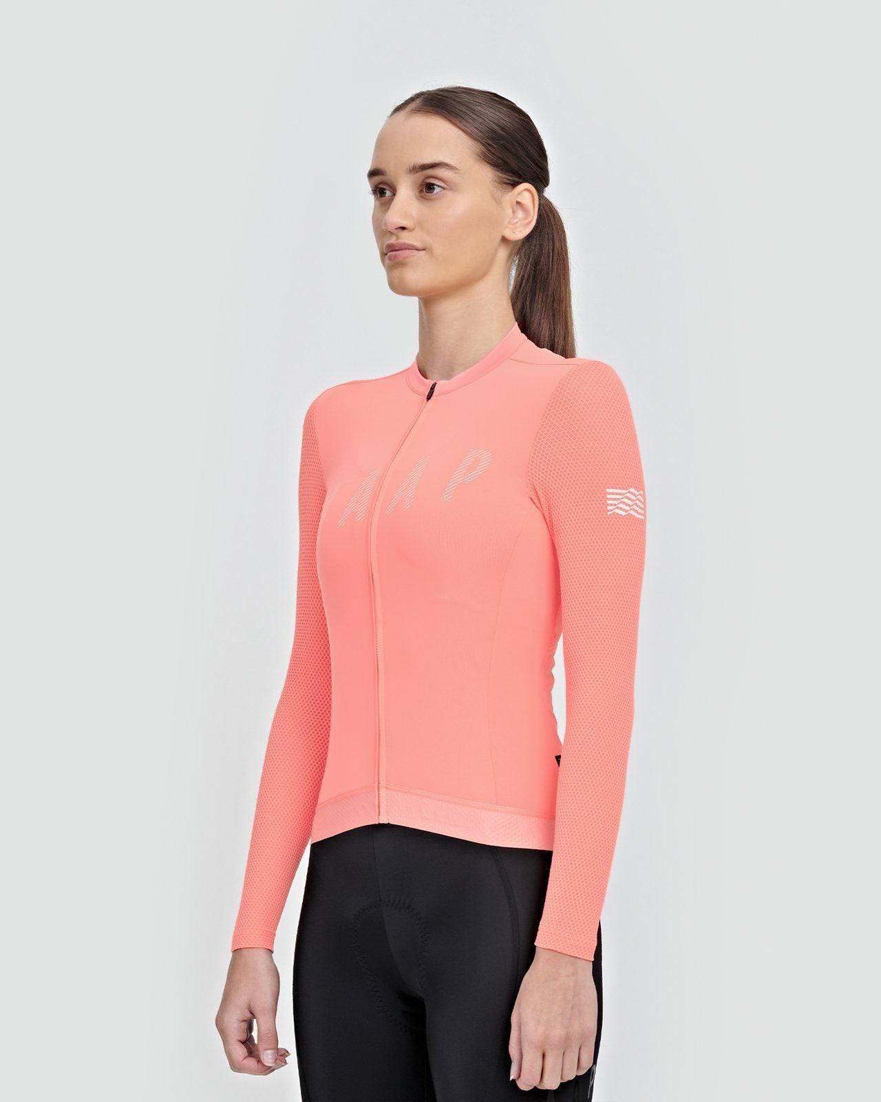 MAAP Women's Echo Pro Base LS Jersey - Light Coral Cycling Jersey MAAP