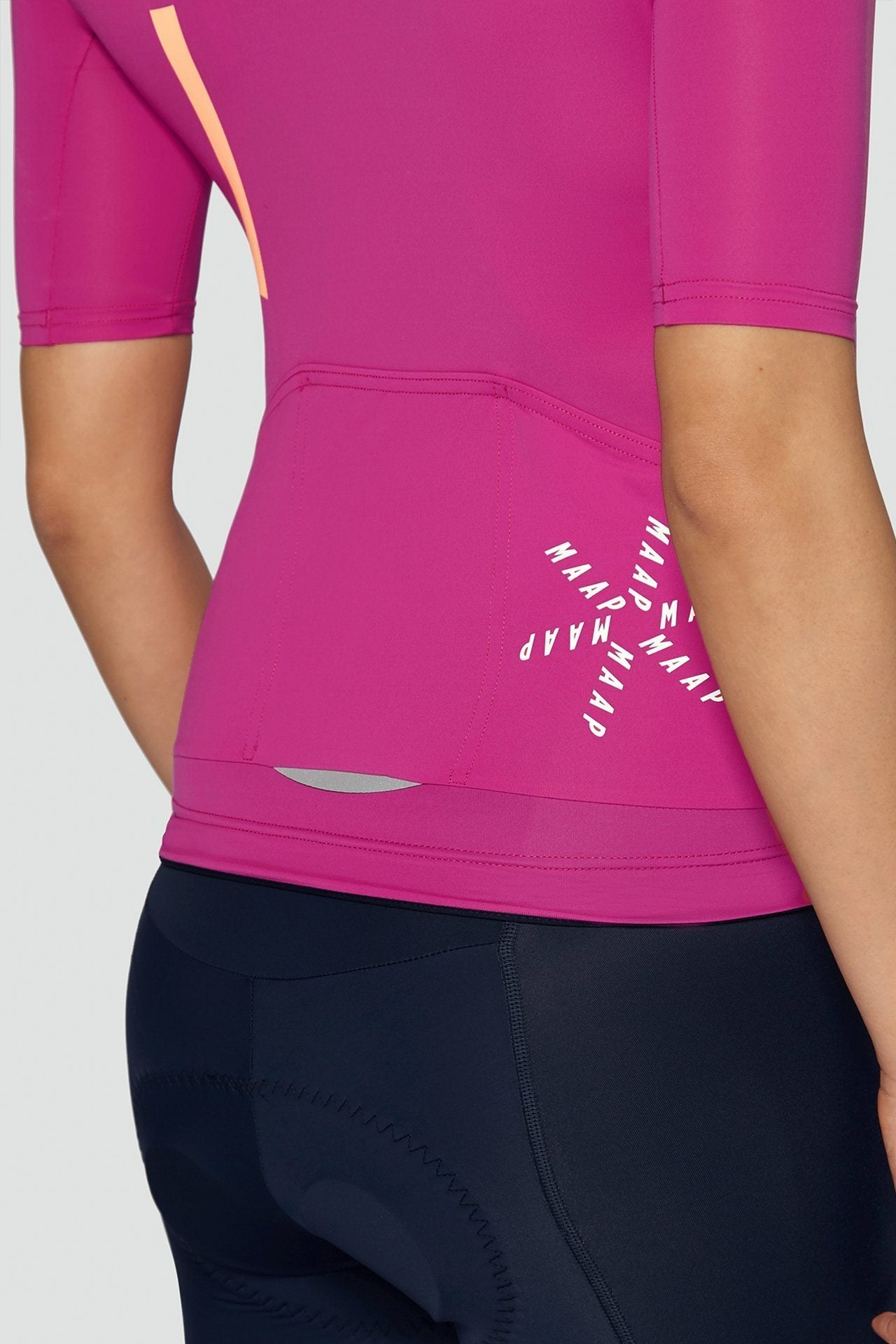 MAAP Women's Training Jersey - Shock Pink Cycling Jersey MAAP