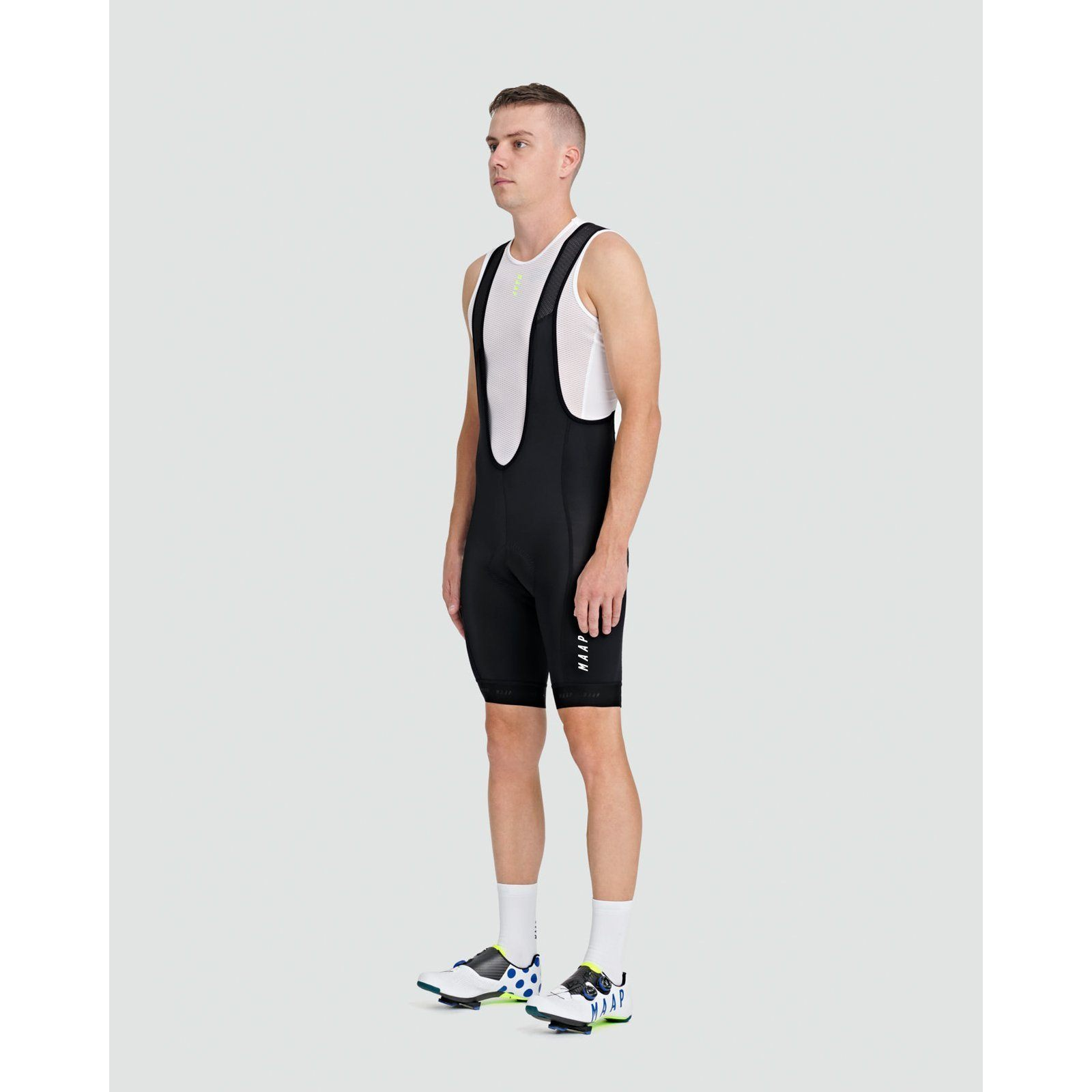 Training Bib Short - Black/White Bib Shorts MAAP