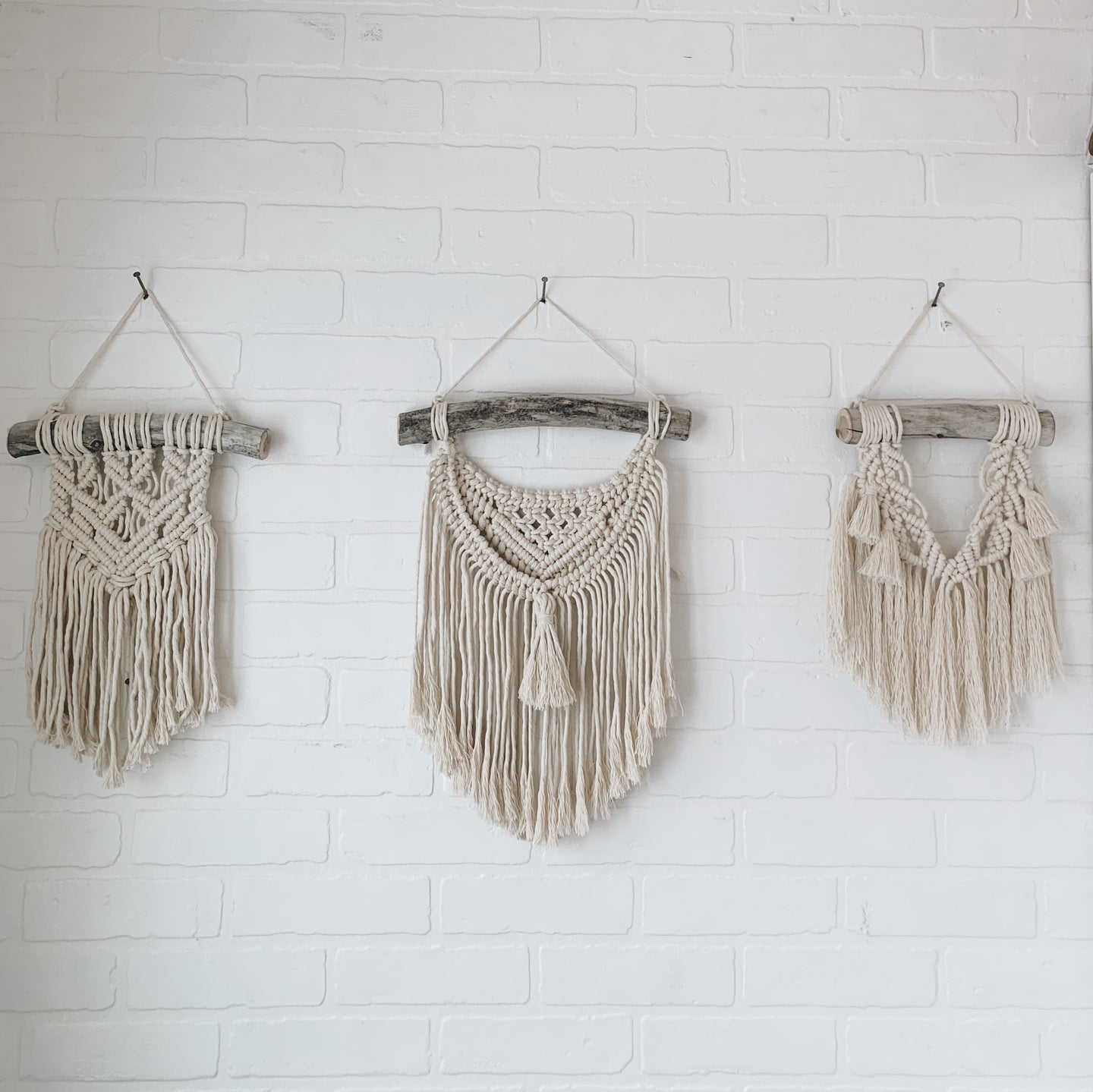 Custom Order - 'Tiny Trio' Macrame Hangings