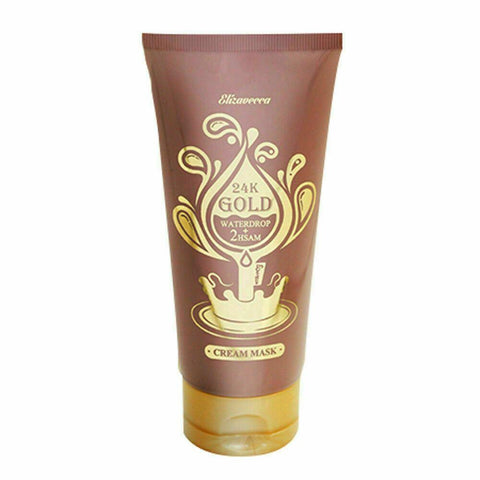 Elizavecca 24K Gold Waterdrop + 2HSAM (150ml)   Features A moisture pack that matches moisture and oil balance. New concept water film cream mask pack. Red ginseng extract, sea cucumber extract, gold Jelly formulation with full of moisture.  Whitening + Wrinkle improvement functional   How to use As moisture cream: Please rub with your fingers in order to make the water out. As water drop pack: Just apply thickly to your skin. Be careful not to make water drops.   Specification Brand : Elizavecca  Country of origin : Republic of Korea  Target Area : Face - Skin Type : All Skin Types  Condition : 100% Brand-new with original box  Capacity : 150ml