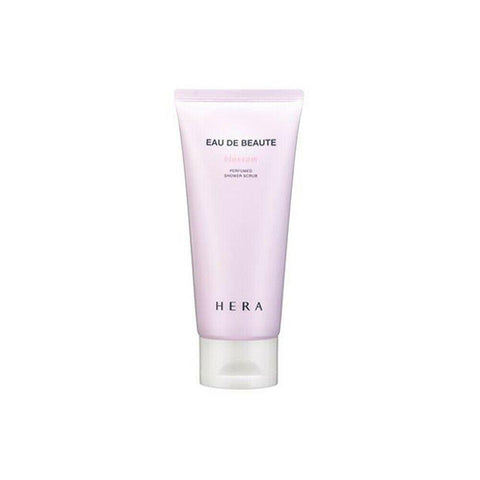 HERA Eau De Beaute Blossom Perfumed Shower Scrub  Features Elegant Blossom fragrance with soft dead skin cell care.  How to use Take proper amount of it and care dead skin cell.  Specification Brand : HERA  Country of origin : Republic of Korea  Target Area : Body - Skin Type : All Skin Types  Condition : 100% Brand-new with original box  Capacity: 180ml