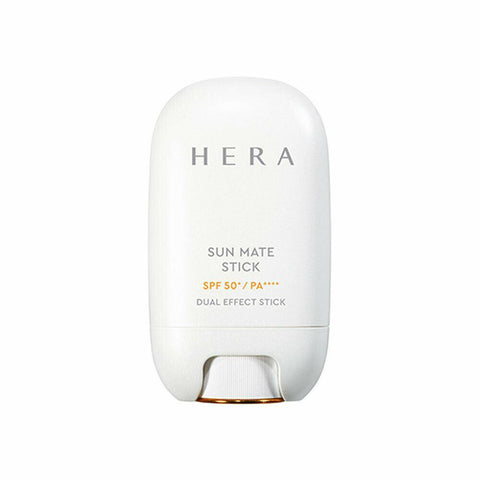 HERA Sun Mate Stick (20g) SPF50+/PA++++  Features S-line sunscreen stick working  as makeup base & primer for beautiful skin  How to use Turn the dial located at the bottom of the container  to roll up about 5mm of the stick  and apply from the center of the face working outwards  two or three times when you need UV protection.  If you roll up the stick too high,  it may break off or fall from the container.  Specification Brand : HERA Country of origin : Republic of Korea Target Area : Face - Skin Type : All Skin Types Condition : 100% Brand-new with original box Capacity : 18g