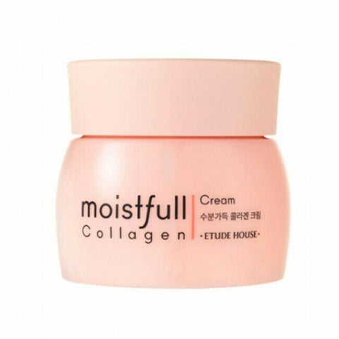 ETUDEHOUSE Moistfull Collagen Cream 75ml  Features - 6 free - Strong Moist - Super Collagen, White Lupin  How to use Take an appropriate amount and massage lightly on your face.  Specification Brand : ETUDE HOUSE Country of origin : Republic of Korea Target area : Face - Skin Type : All skin type Condition : 100% Brand-new with original box Capacity : 75ml