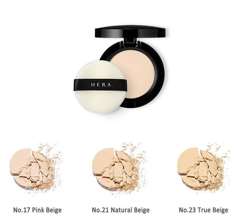 Hera HD Perfect Powder Pact (103)  No.17 Pink Beige No.21 Natural Beige No.23 True Beige   Features A powder pact that has a light fit to give long-lasting, bright and natural looking skin.  How to use Put an adequate amount on the puff, dab it over the face.  Gently press it on curved parts of your face.  Specification Brand : HERA  Country of origin : Republic of Korea   Target Area : Face - Skin Type : All Skin Types  Condition : 100% Brand-new with original box  Capacity : 10g