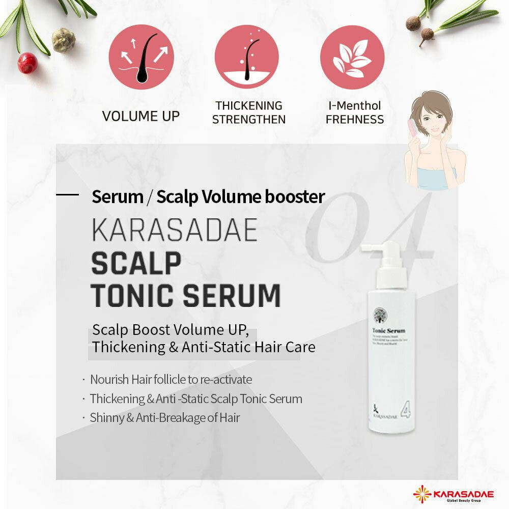 Karasadae Tonic Serum Scalp Boost Volume Up Anti-Static Hair Care 140ml