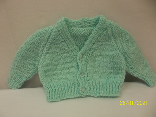 Cardigan Green Premature/Newborn