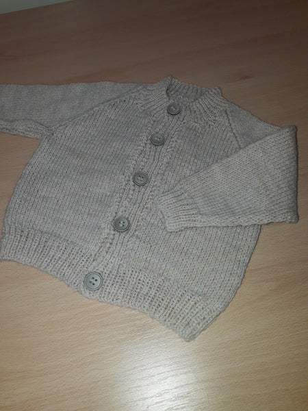 Knit Cardigan, Grey, Age 3-6 months