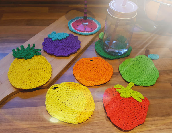 Crocheted Fruit Coasters