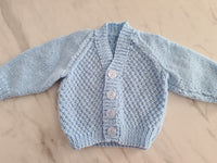 Knit Cardigan, Blue, Age Pre-term