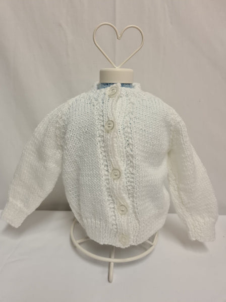 Knit Cardigan, White, Age 6 - 12 Months