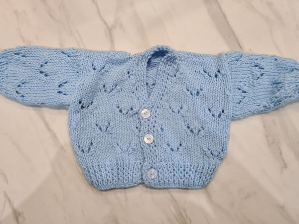 Knit Cardigan, Blue, Age 3-6 Months