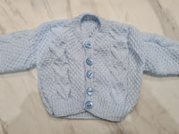 Knit Cardigan, Blue, Age 0-3 Months