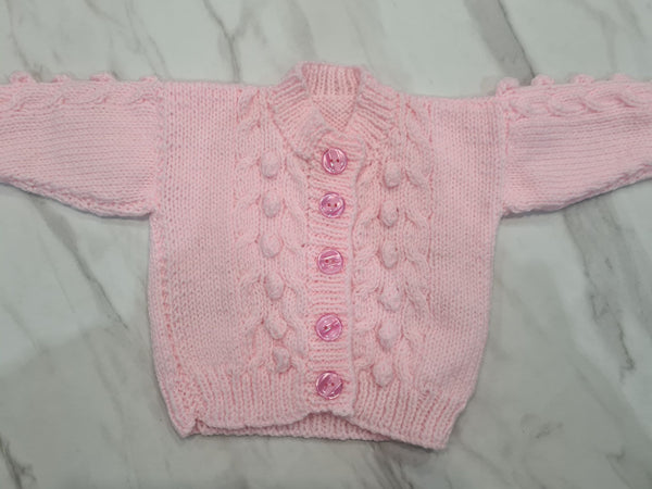 Knit Cardigan, Pink, Age 3-6 Months
