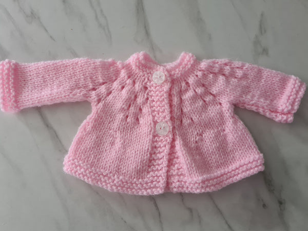 Knit Cardigan, Pink, Age Pre-term