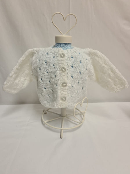 Knit Cardigan, White, Age 6-12 Months