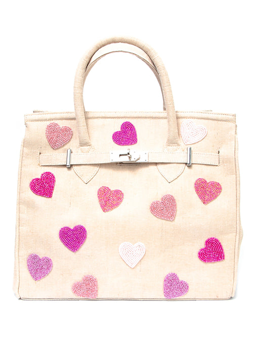 Beaded Heart Tote - Shop Nikki
