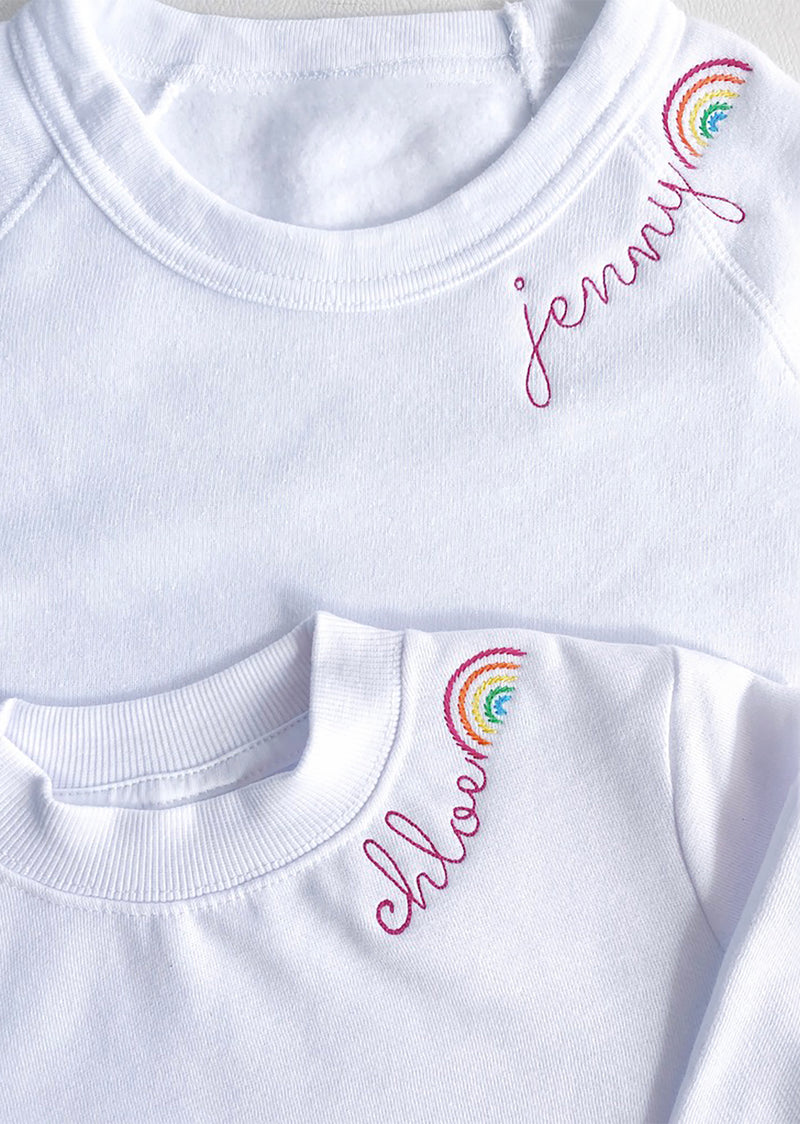 Brighter Days Ahead Embroidered Crew- Adult - Shop Nikki