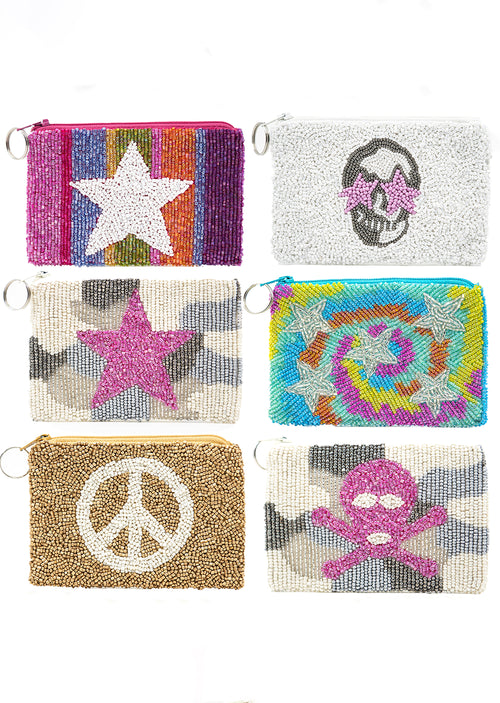 Beaded Coin Purse- Assorted - Shop Nikki