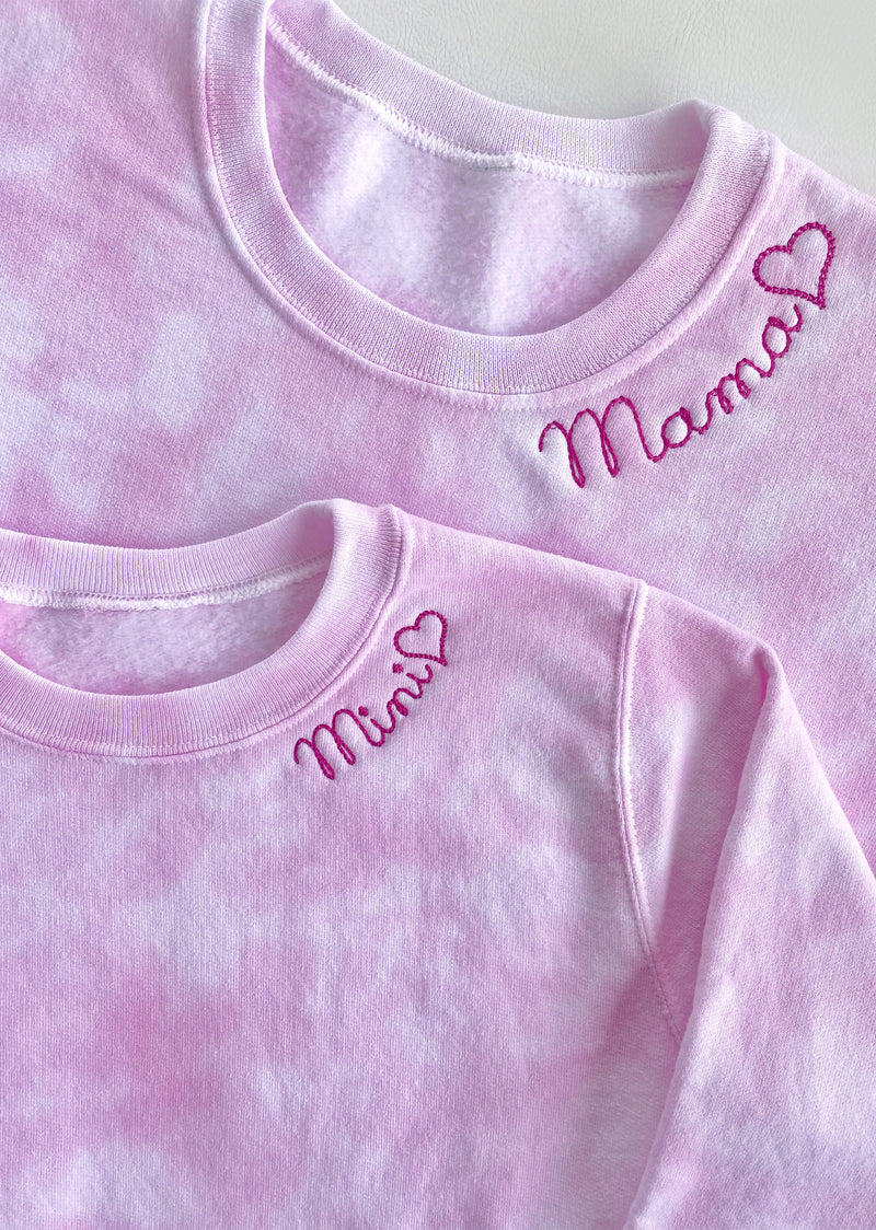Mama Embroidered Sweatshirt- Adult