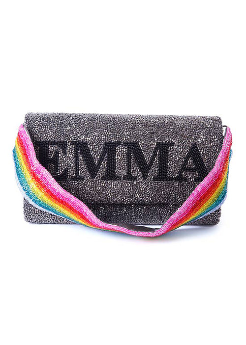 Beaded Clutch With Beaded Strap - Shop Nikki