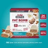 Keto Fat Bomb Meal Replacement Bar Frosted Cinnamon Bun: 24 vitamins and minerals, whey protein, coconut oil MCTs, free from gluten, artificial sweeteners, artificial flavors, colors- carousel image