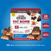 Keto Fat Bomb Meal Replacement Bar Nutty Caramel and Nougat: 24 vitamins and minerals, whey protein, coconut oil MCTs, free from gluten, artificial sweeteners, artificial flavors, colors- carousel image