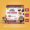 Keto Fat Bomb Meal Replacement Bar Whipped Peanut Butter Chocolate: 24 vitamins and minerals, whey protein, coconut oil MCTs, free from gluten, artificial sweeteners, artificial flavors, colors- carousel image