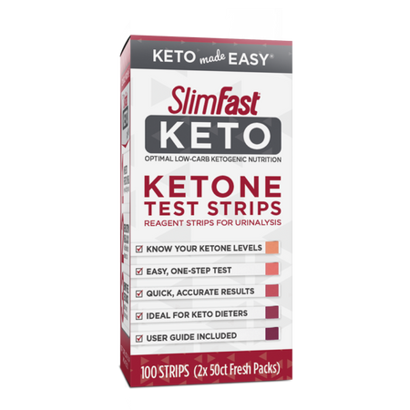 SlimFast Keto Ketone Test Strips, 100 strips- product packaging carousel image
