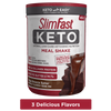 SlimFast Keto Meal Shake Mix, 3 flavors available, product packaging carousel image