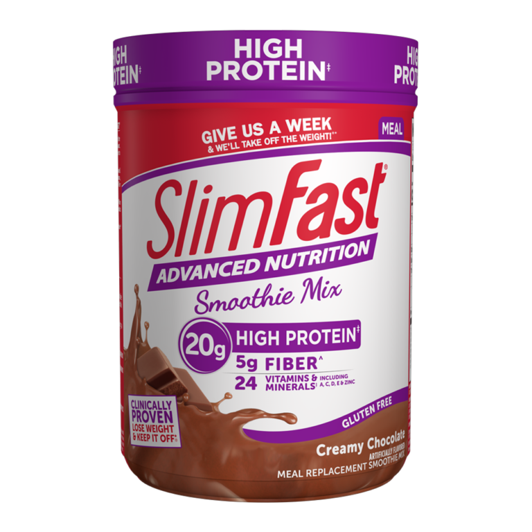 SlimFast Advanced Nutrition Smoothie Mix Creamy Chocolate- product packaging carousel image