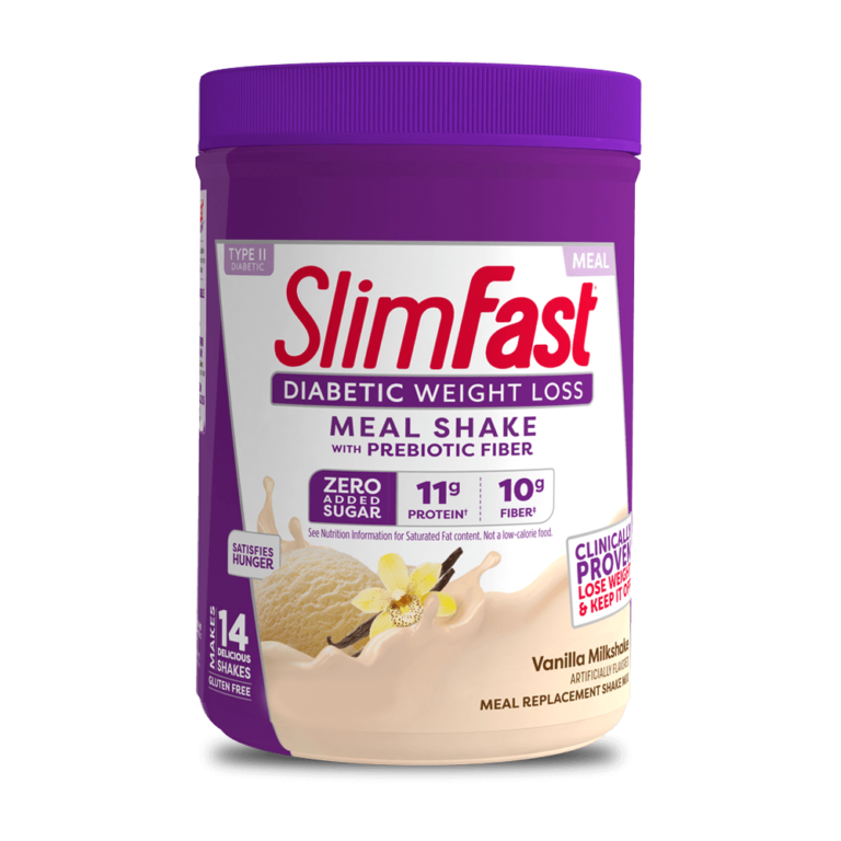 SlimFast Diabetic Weight Loss Shake Mix Vanilla Milkshake, product packaging carousel image