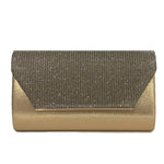 Metallic Attitude Clutch Bag