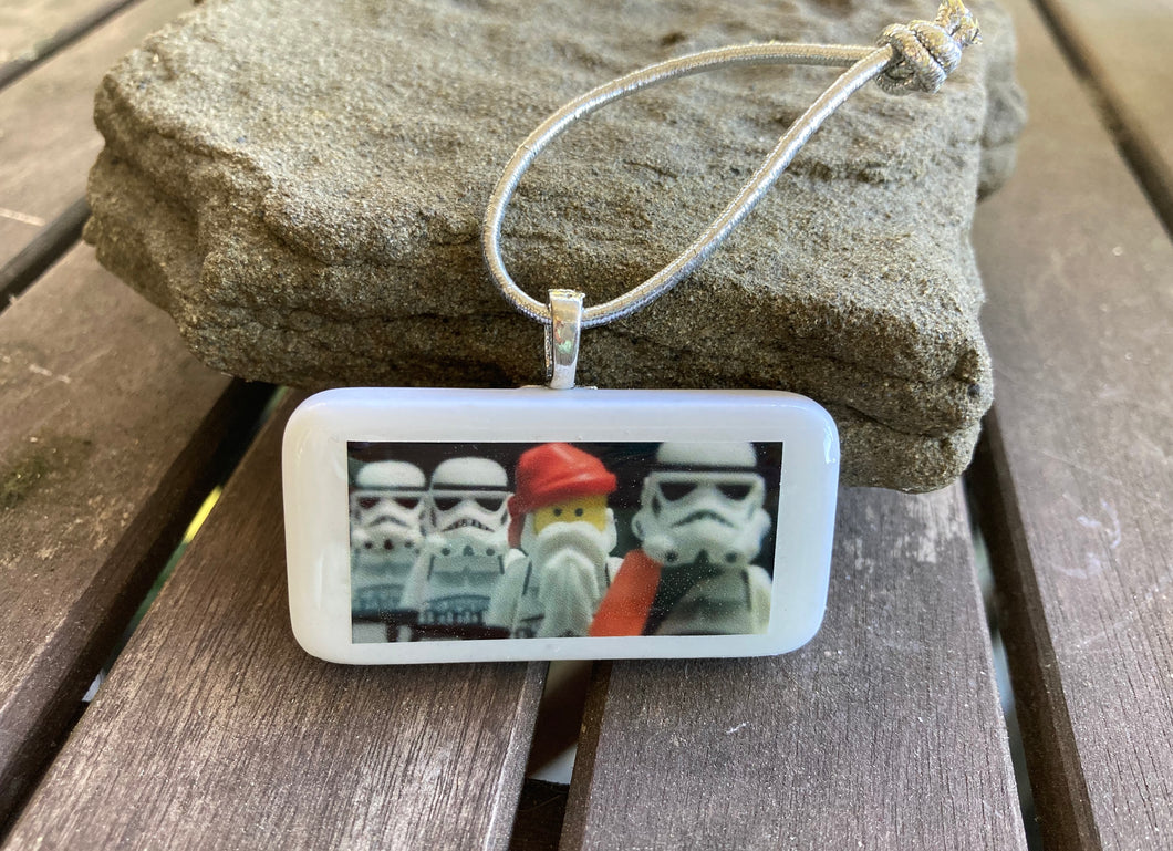 Santa & Stormtroopers Domino Christmas Ornament