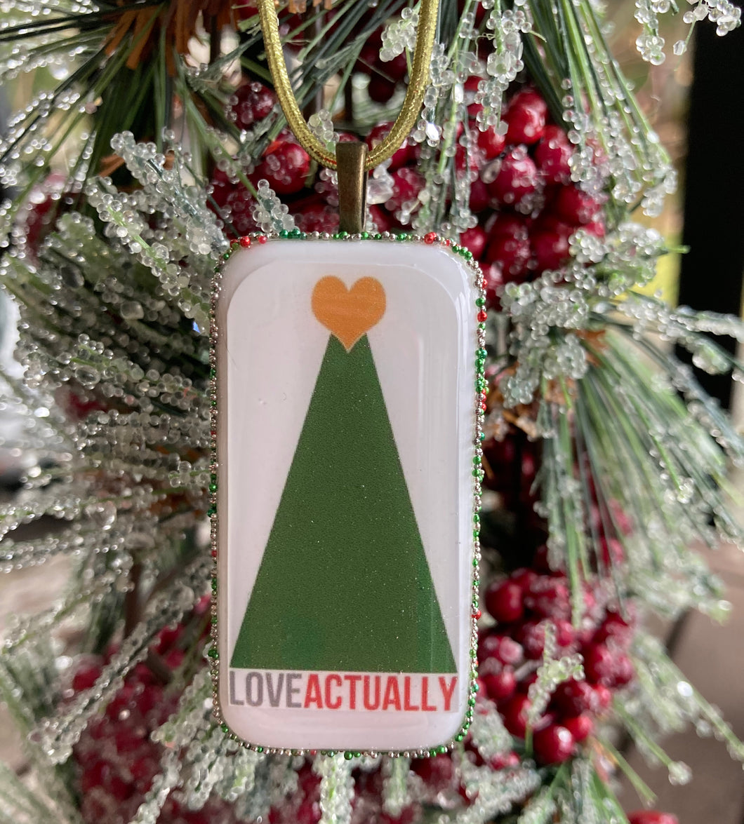 Love Actually (Tree Poster) Domino Christmas Ornament