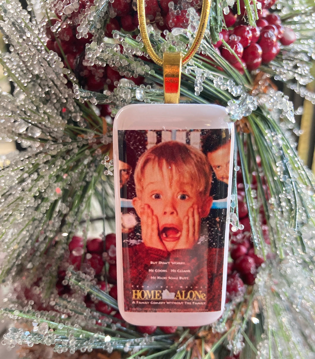 Home Alone Domino Christmas Ornament
