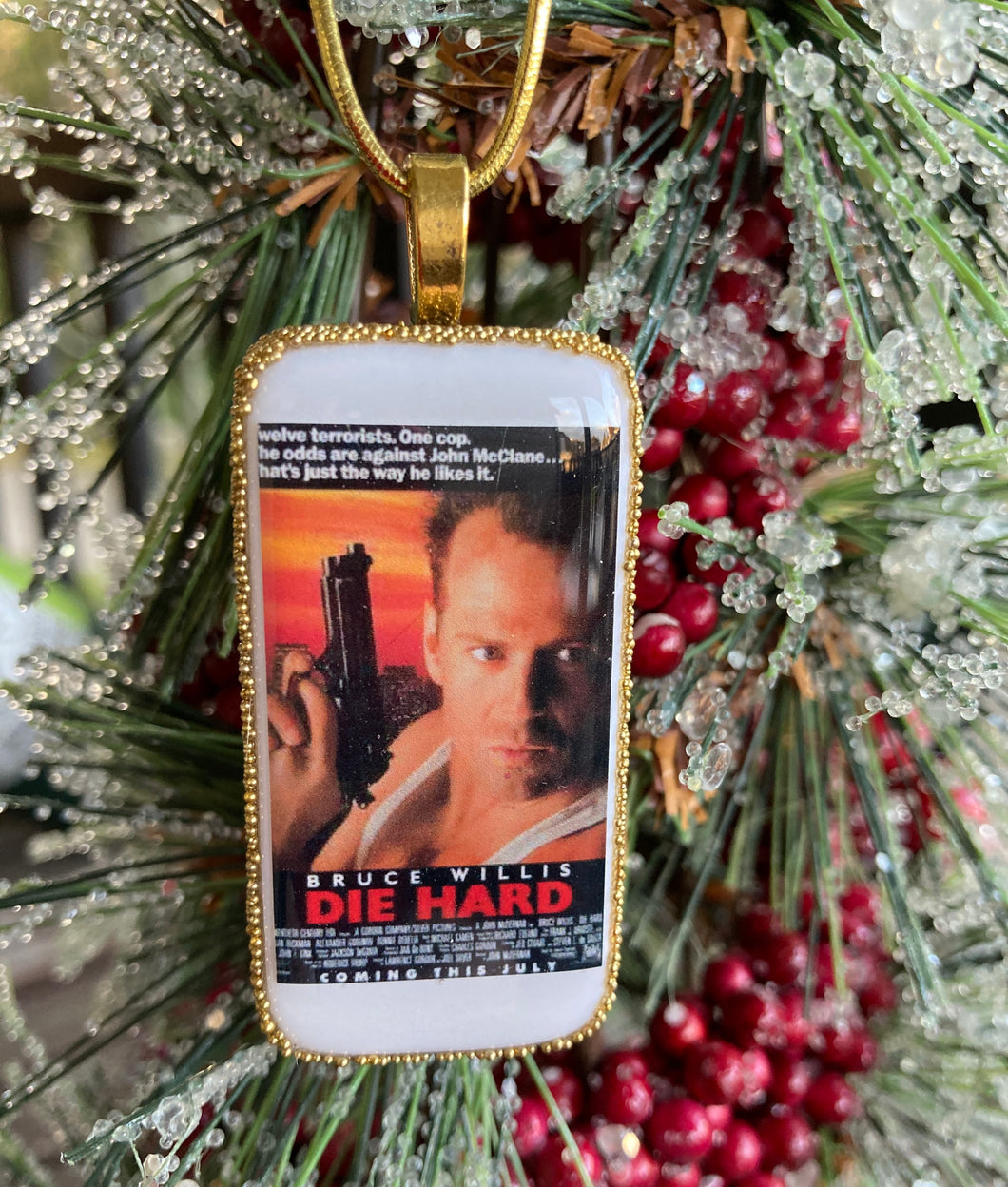 Die Hard Domino Christmas Ornament