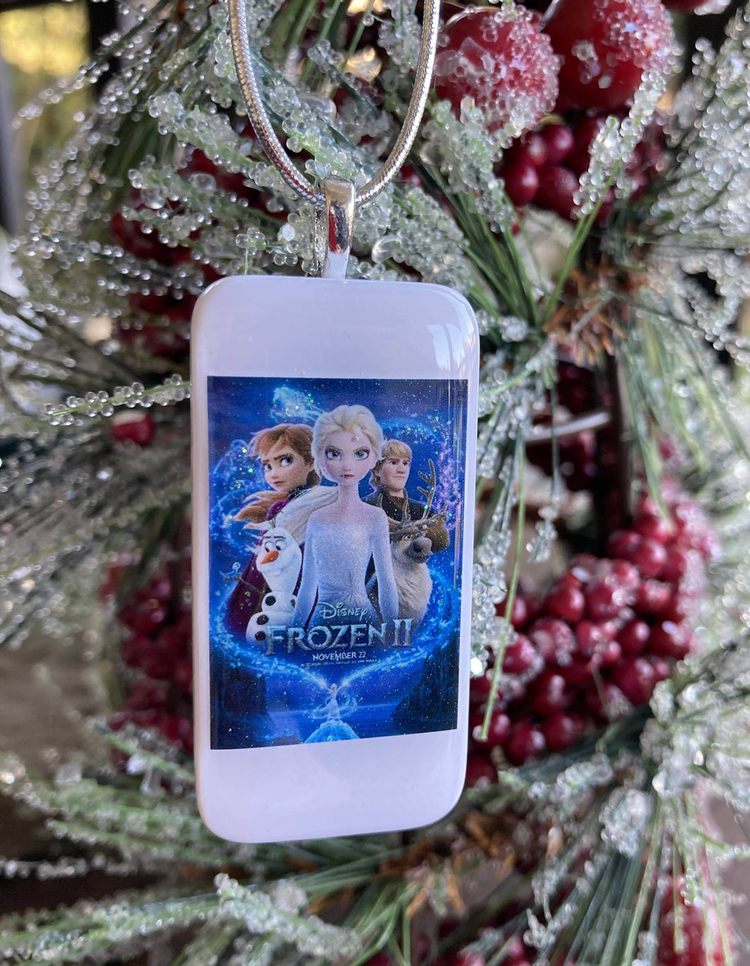 Frozen 2 Domino Christmas Ornament