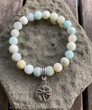 Load image into Gallery viewer, Amazonite Dragonfly Stretch Bracelet