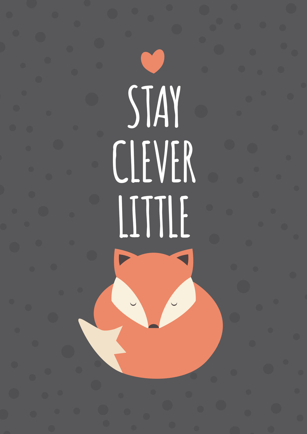 Stay Clever Little Fox A4 Kids Prints