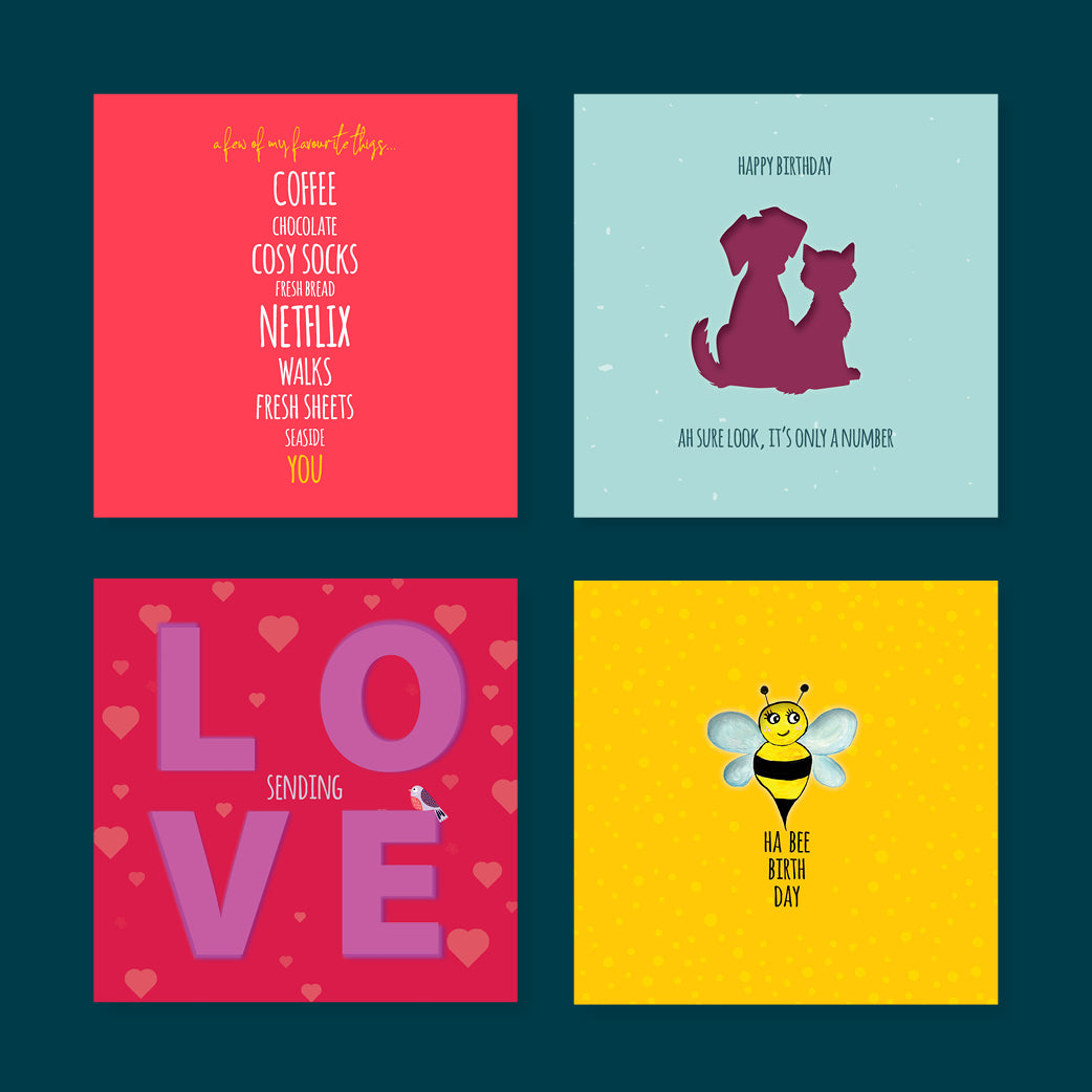 Pack of 4. Cards for all Occasions