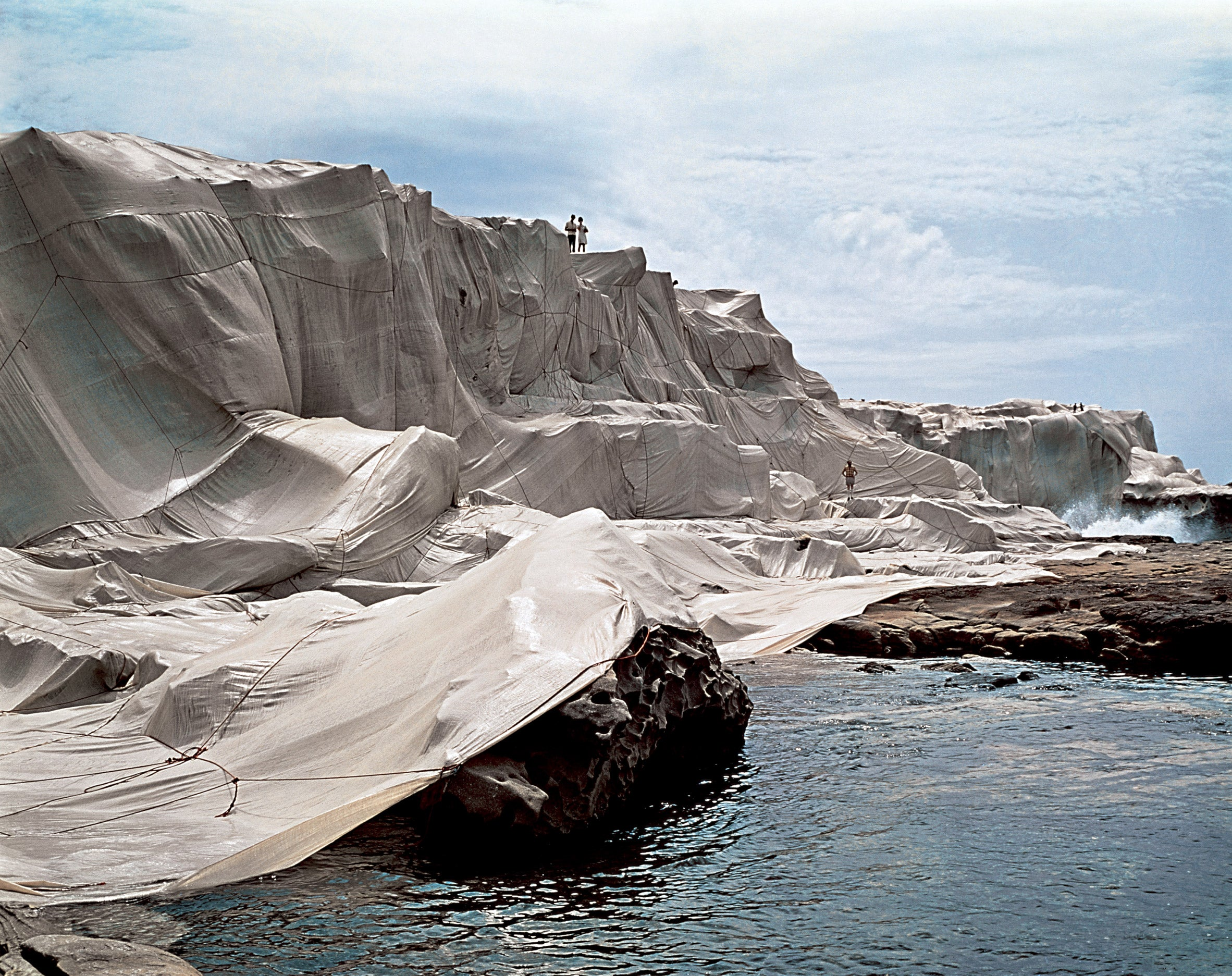 Wrapped Coast by Christo and Jeanne Claude, One Million Square Feet, Little Bay, Sydney, Australia, 1969