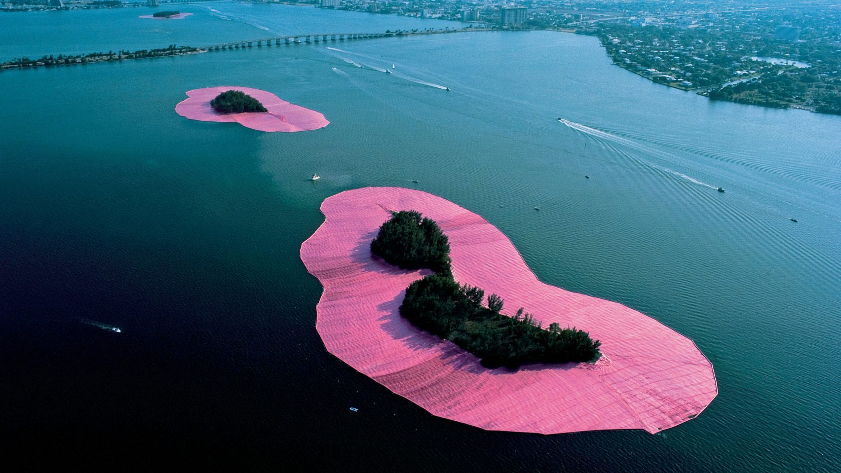 Surrounded Islands by Christo and Jeanne Claude, Biscayne Bay, Greater Miami, Florida, 1983