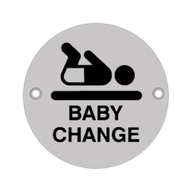 75mm Dia 'Baby Change' Symbol sign