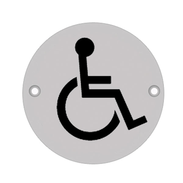 75mm Dia 'Disabled' Symbol sign